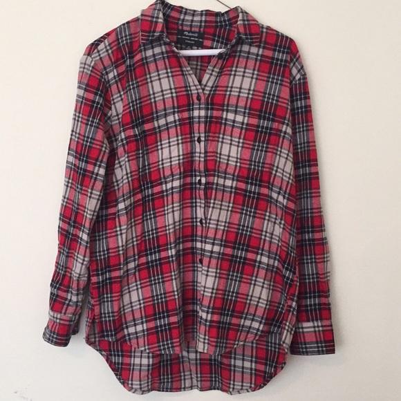 Madewell Tops - Madewell oversized flannel shirt